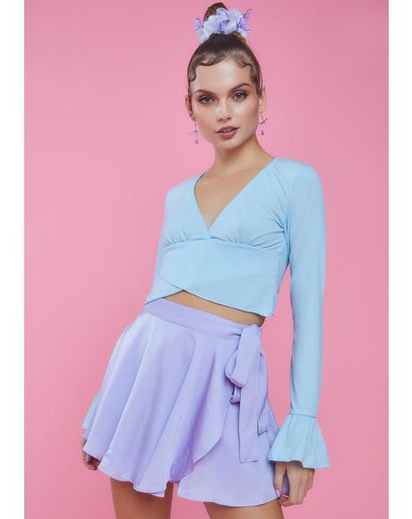 Center Stage Ruffle Long Sleeve Top