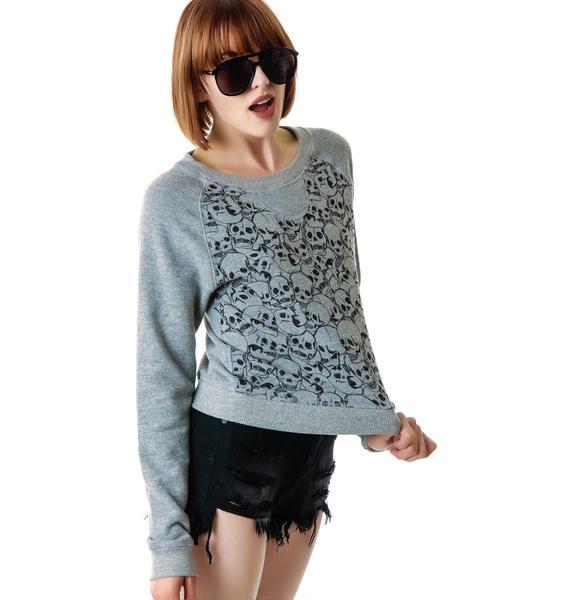 Junk Food Clothing Skulls Pullover Sweatshirt