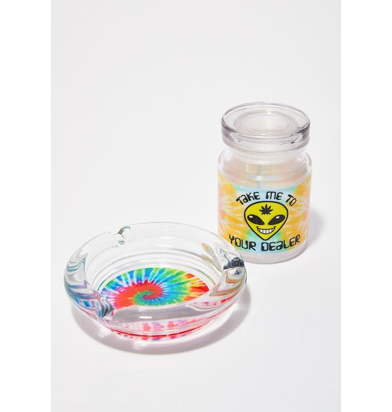 Puff Pass Tie Dye Ashtray