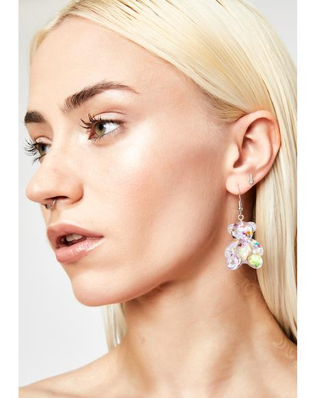 Grape Sugar Rushin' Gummy Bear Earrings
