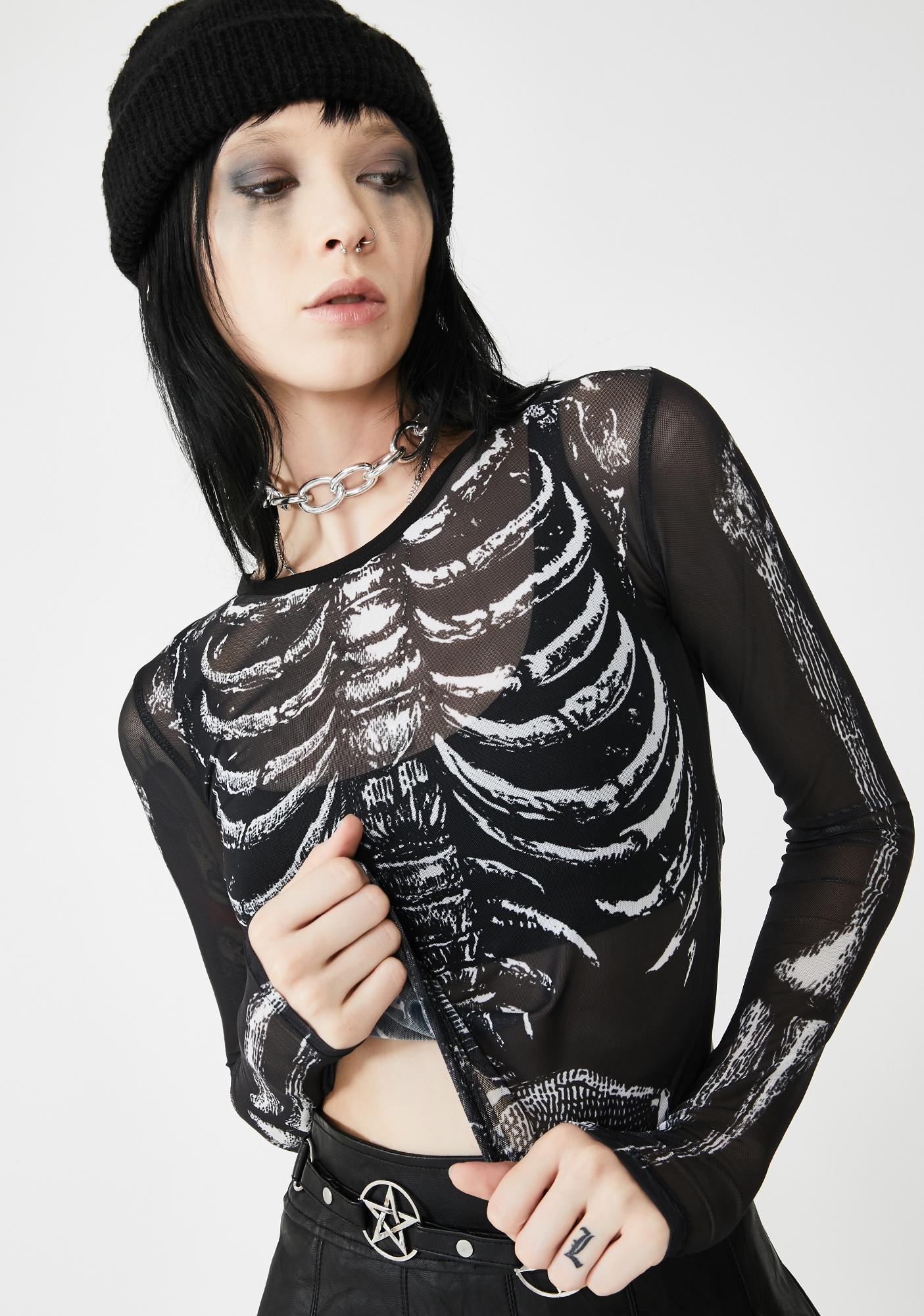 Dolls Kill Boneyard Mesh Top
