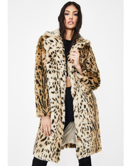 Jericho Leopard Faux Fur Coat