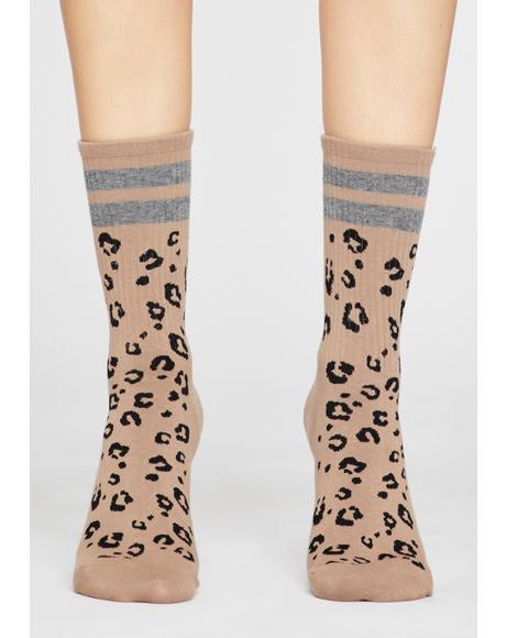 Sportin' Spots Leopard Socks