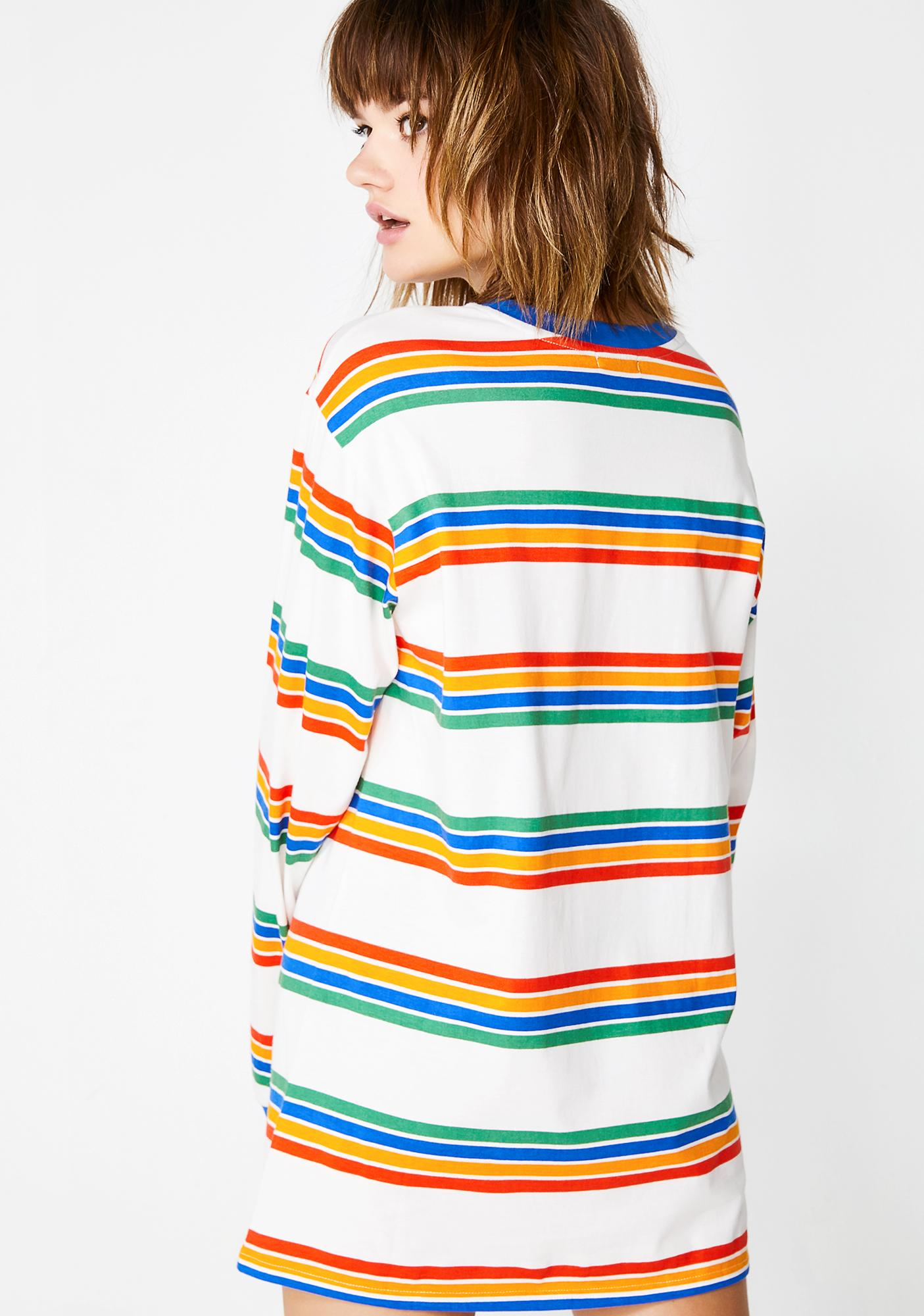 Current Mood Playin' Hooky Striped Top