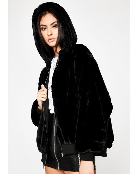 Diva Instincts Fur Hoodie