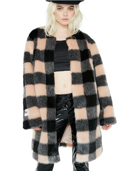 Check Chloe Coat