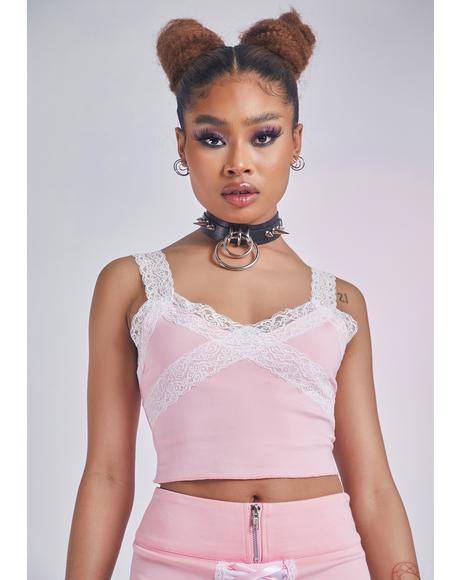 Pixie Haute Embrace Lace Cami Tank
