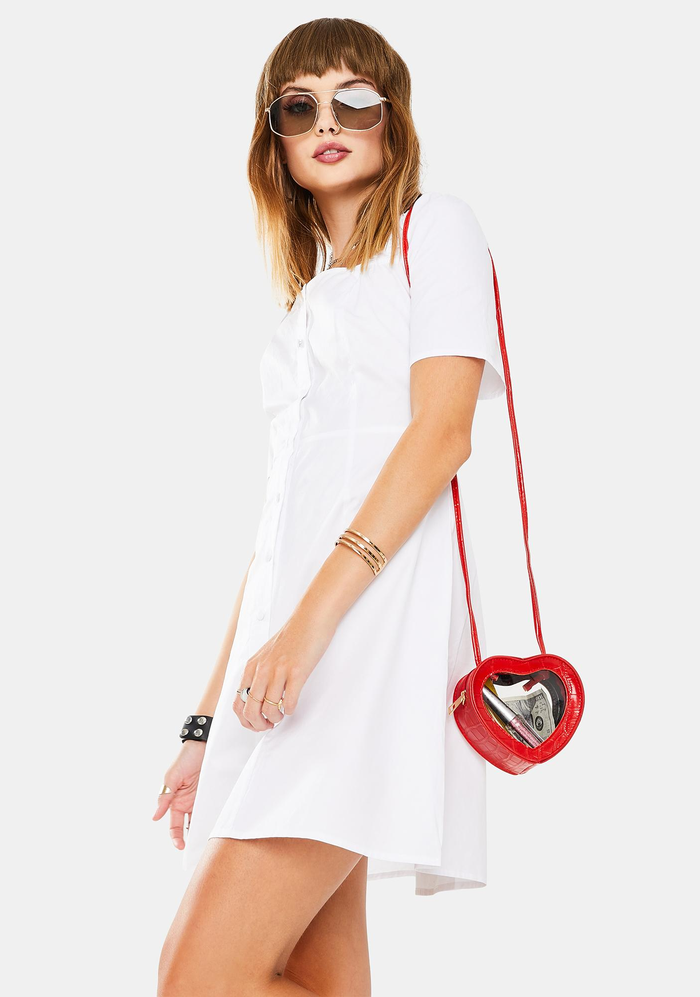 Glamorous White Mini Dress