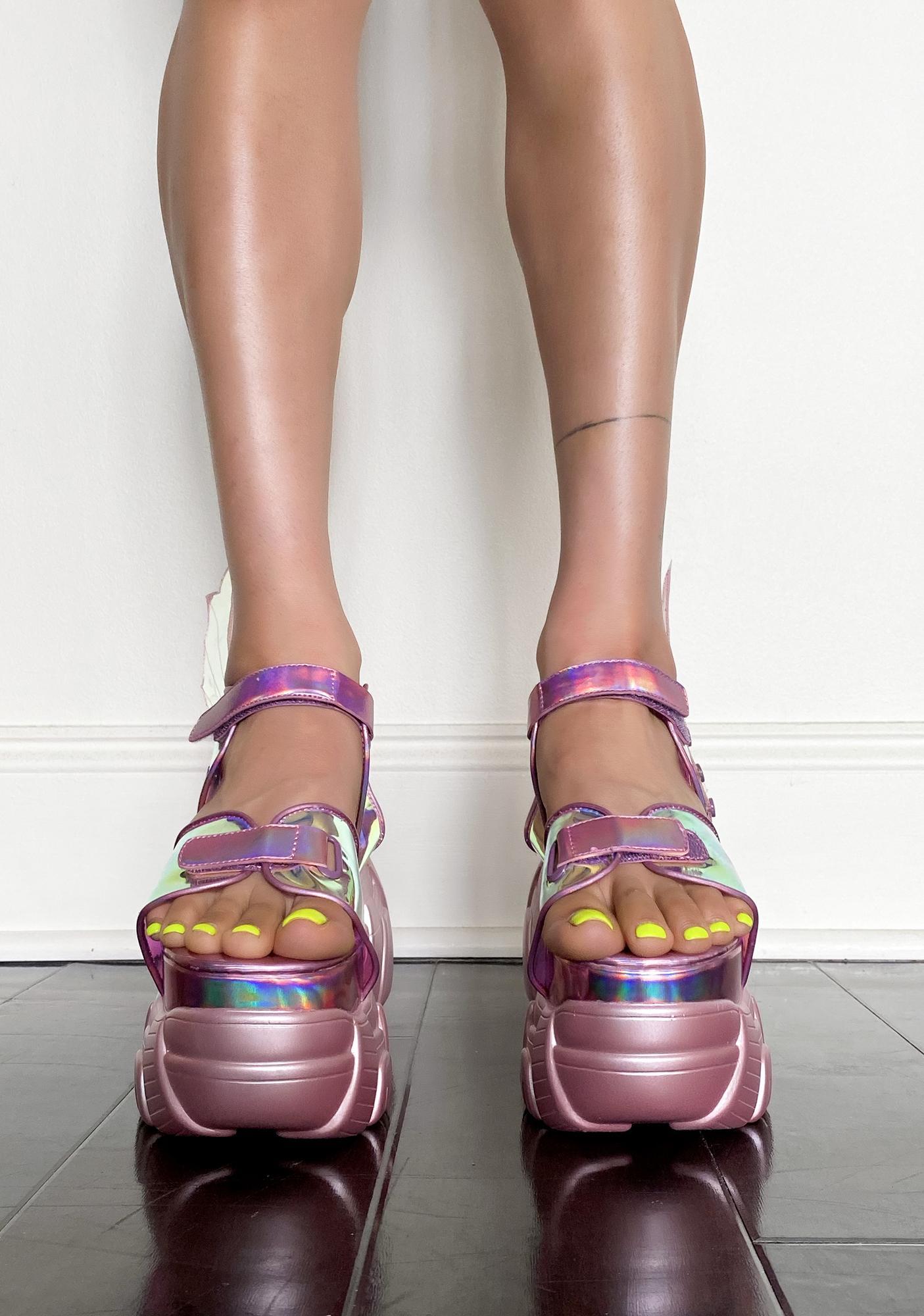 Sugar Thrillz Flutter Frenzy Winged Sandals