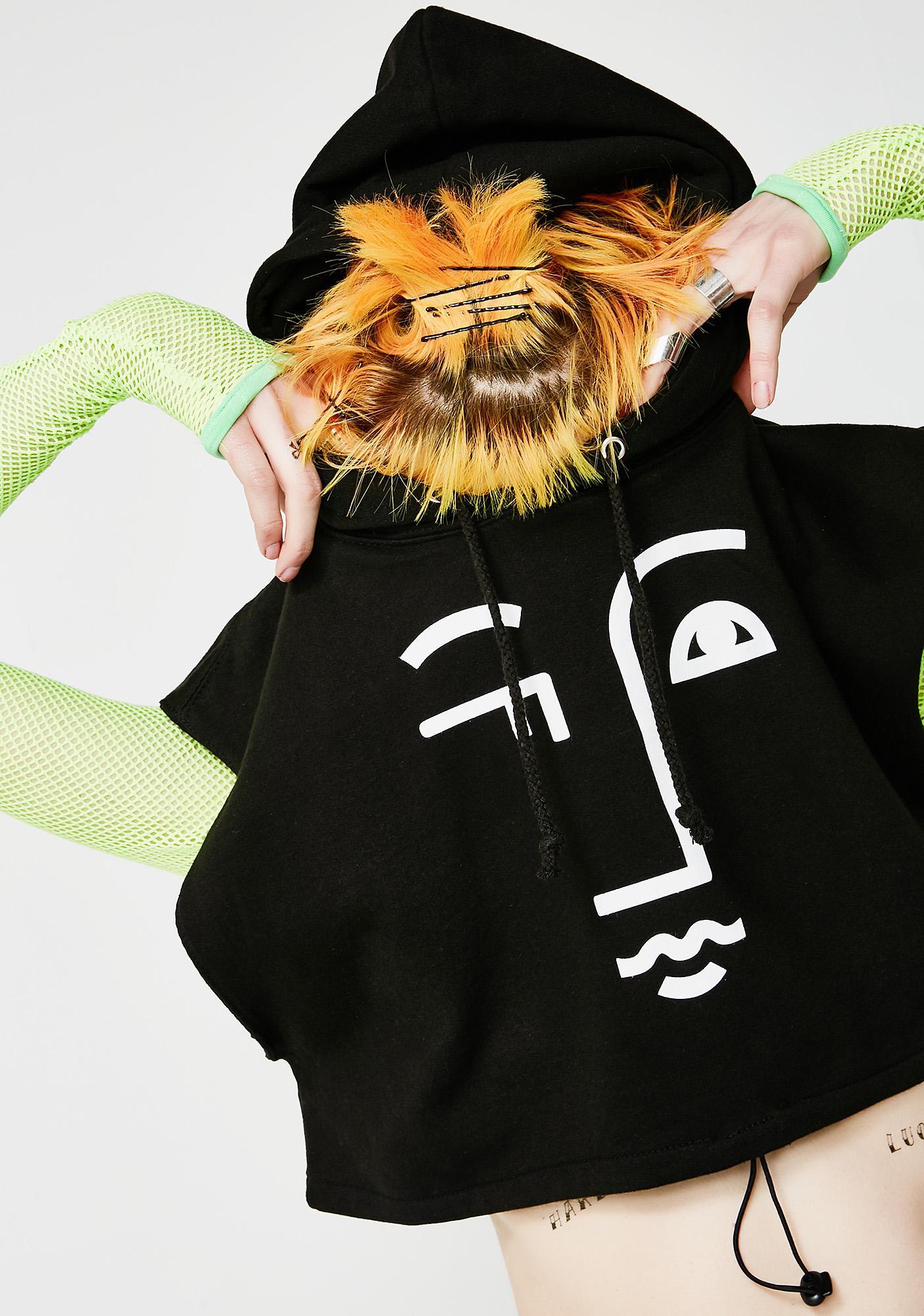 Fille de Joie Logo Crop Hoodie