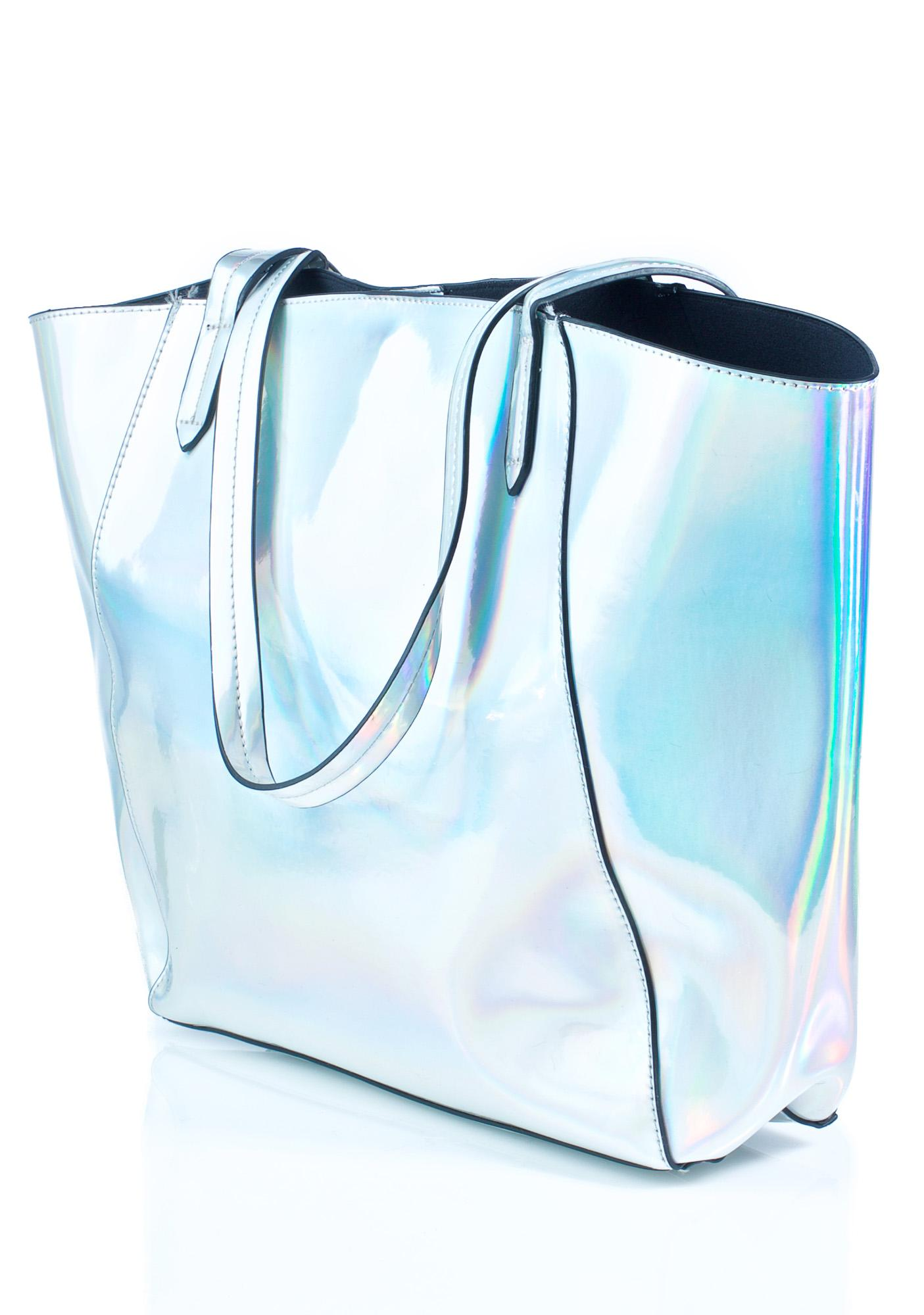 Cosmonaut Holographic Tote Bag