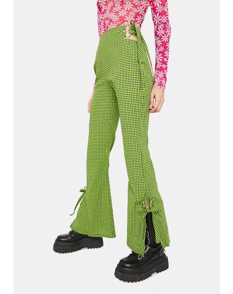 Trademark Gingham Flare Pants