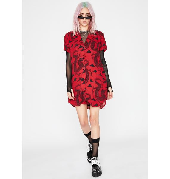 Current Mood Enter The Diva Shirt Dress