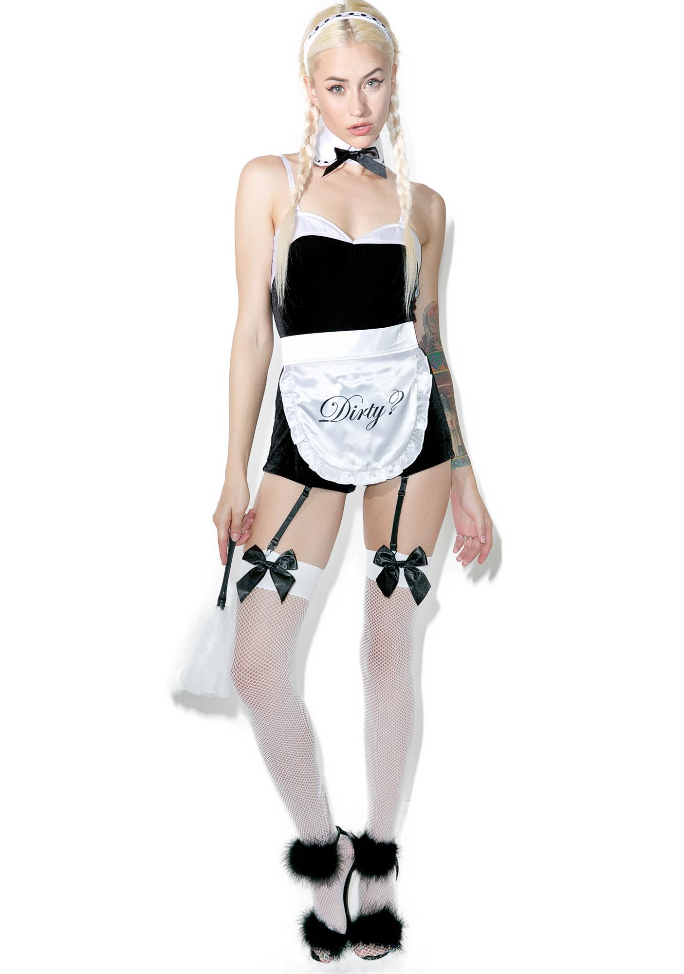 Dolls Kill Maid In Heaven Costume Set