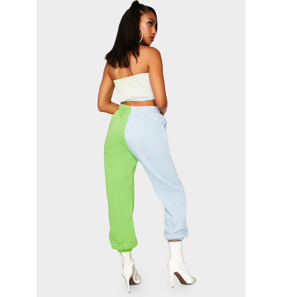 Chill Slacker Squad Two Tone Sweatpants