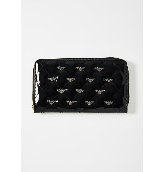 Rock Rebel Studded Bats Wallet