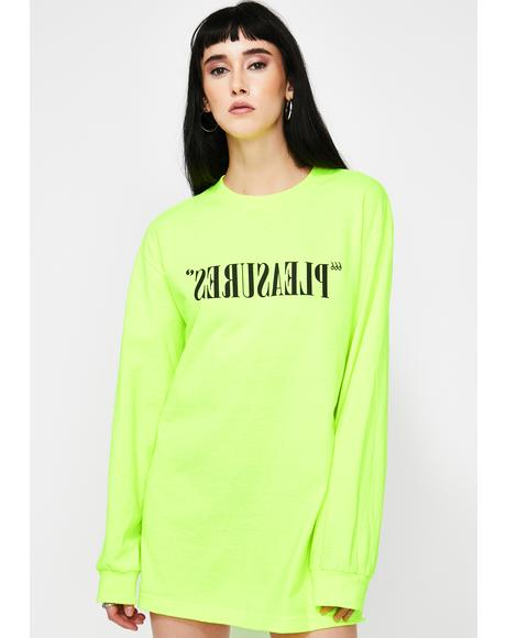 Flipped Logo Neon Long Sleeve Tee