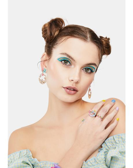 Dusty Daisies Drop Earrings