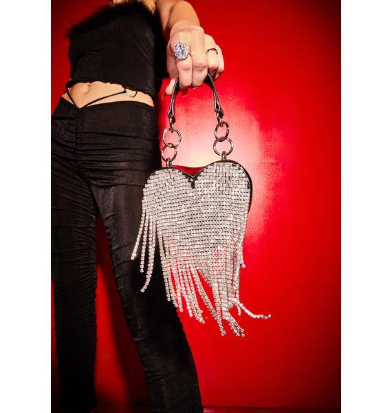 Poster Grl Night Mine All Mine Rhinestone Heart Mini Purse