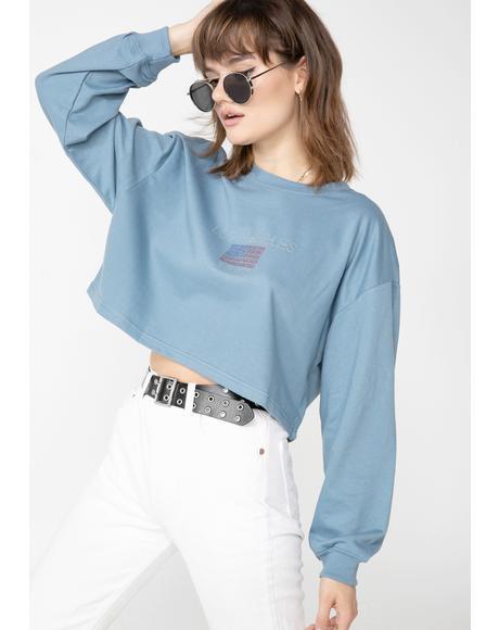 Los Angeles Cropped Sweatshirt