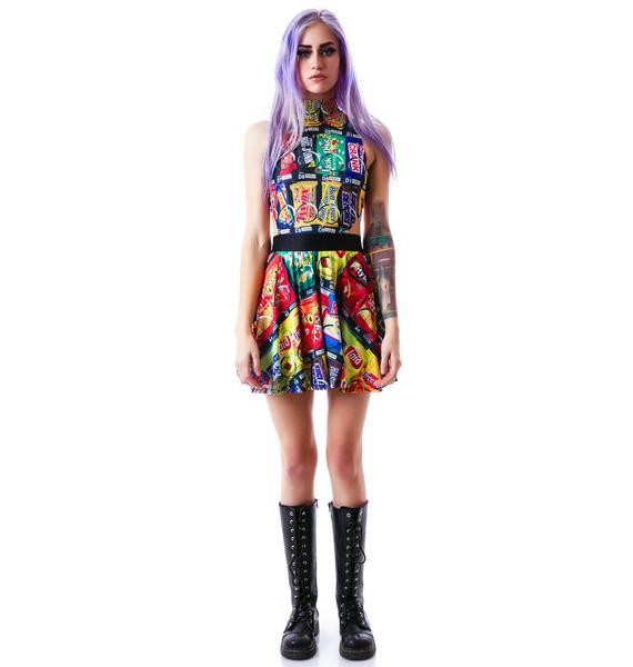 24HRS Vending Machine Mock Neck Dress