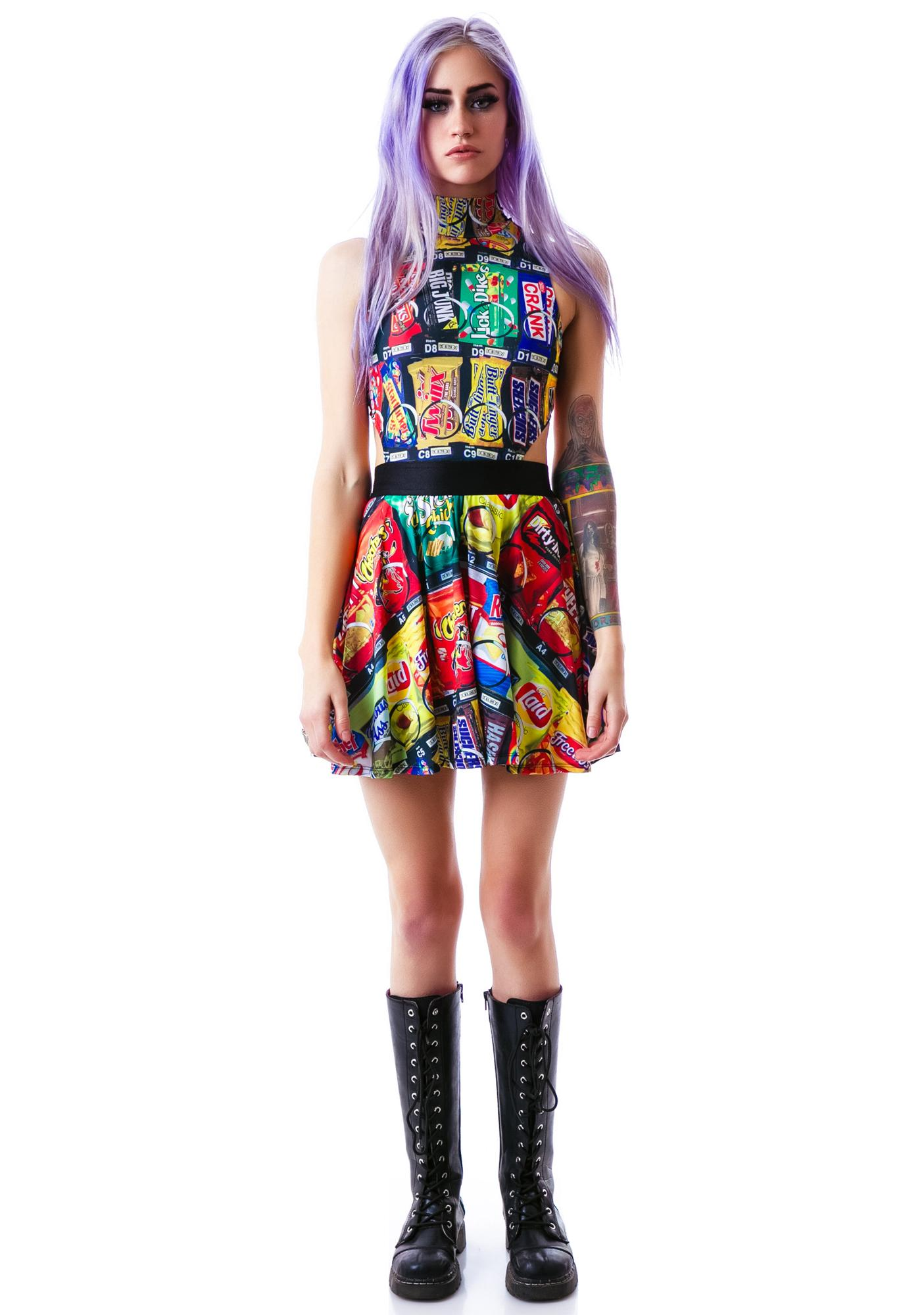 24HRS Vending Machine Mock Neck Dress