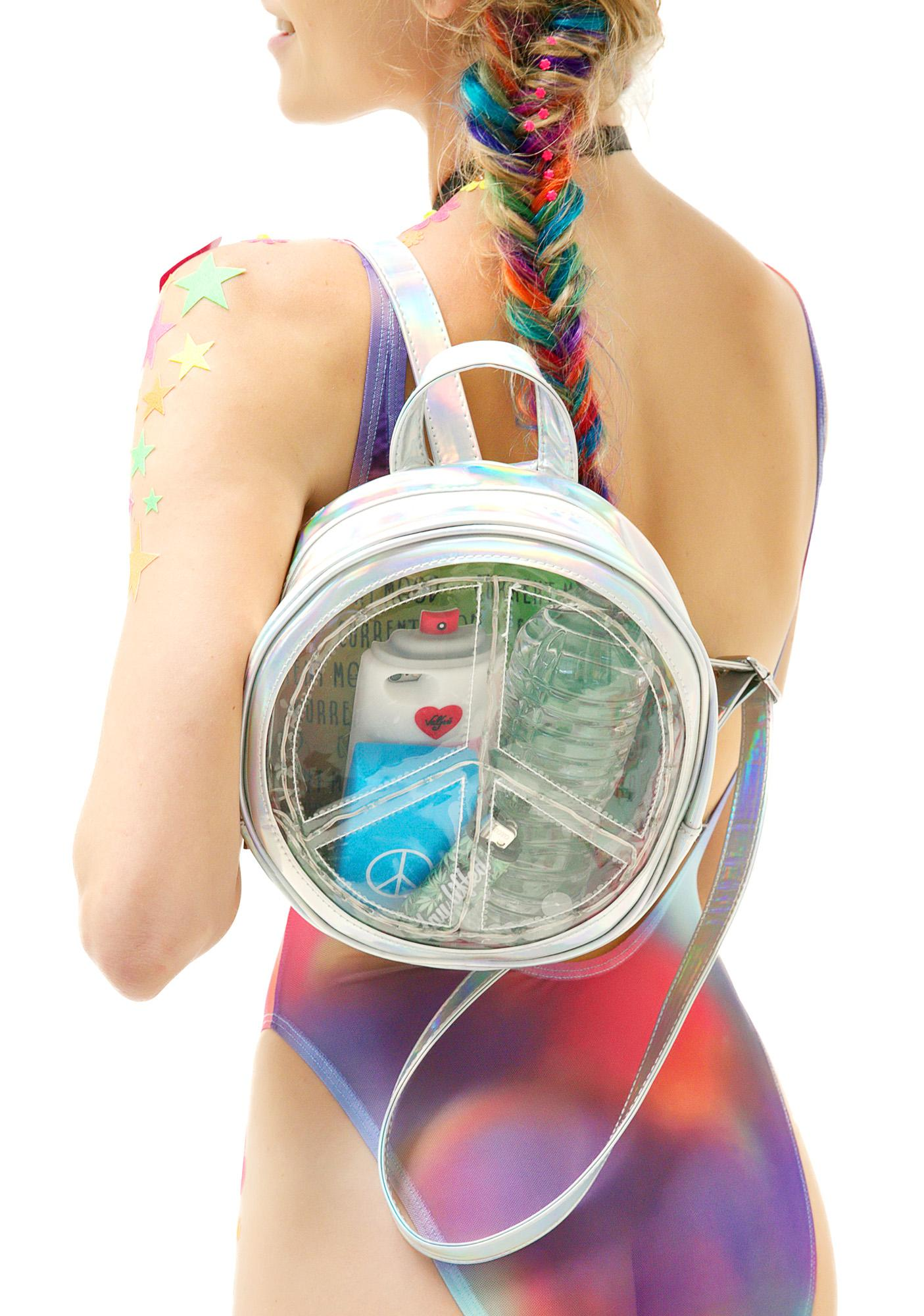 Current Mood Peace And Light Circle Backpack