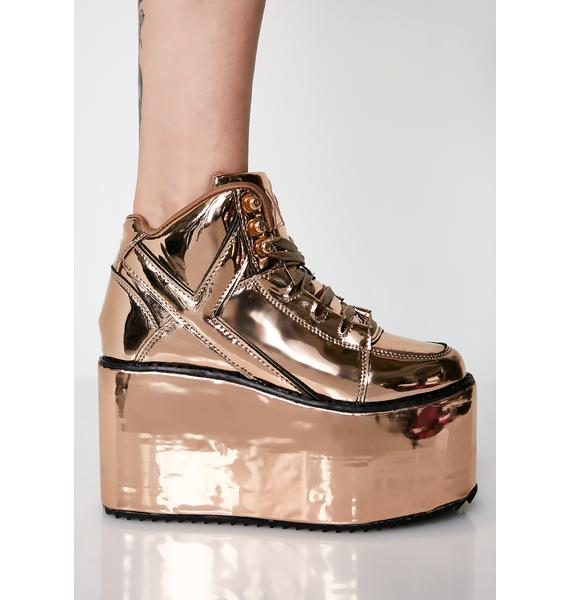 Y.R.U. Fairest Of Them All Qozmo Platform Sneakers