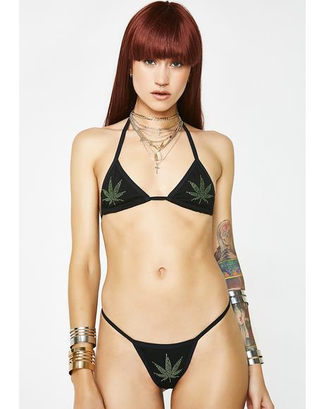Let It Burn Leaf Lingerie Set