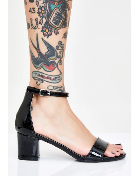 Dark Play Nice Block Heels