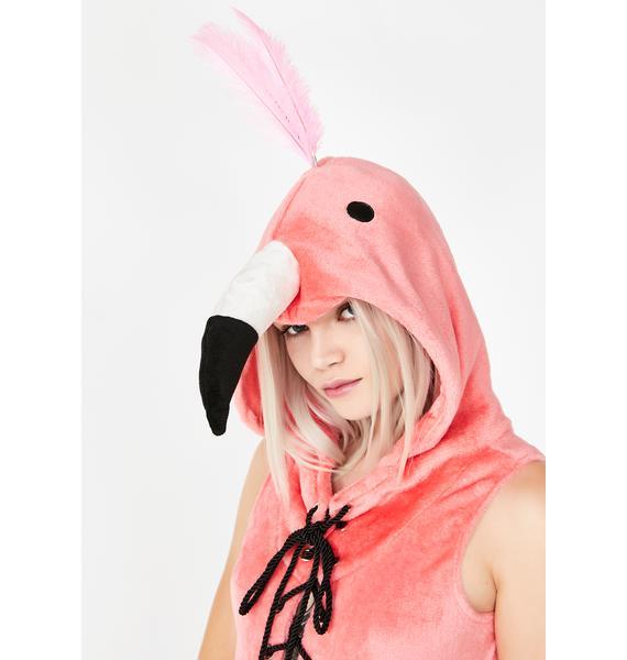 Dolls Kill Flight Of Fancy Flamingo Costume