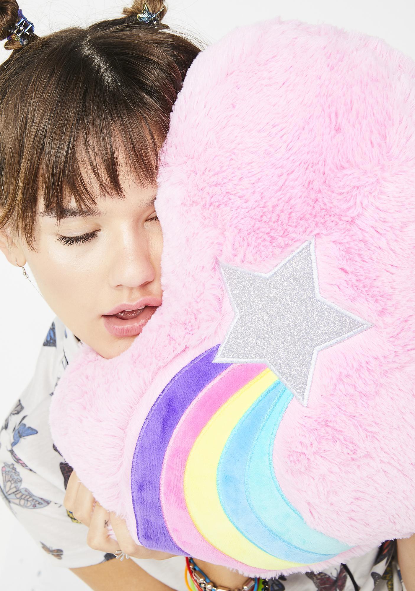 Luckiest Star Heart Pillow