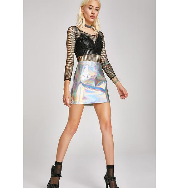 Space Queen Holographic Skirt