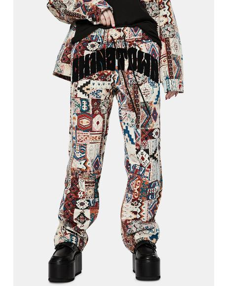 Rug Dealer Patchwork Pants
