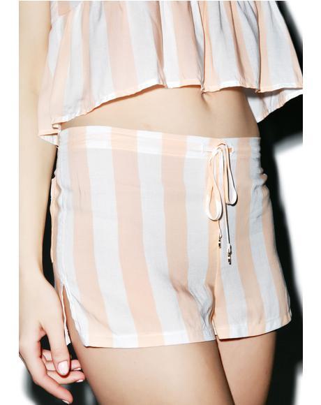 Hotel Stripe Sun Shorts