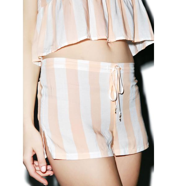 Wildfox Couture Hotel Stripe Sun Shorts