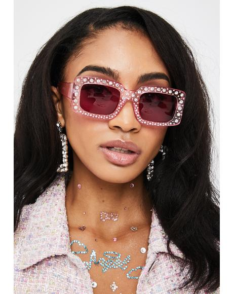 Baby Disco Fox Rhinestone Sunglasses