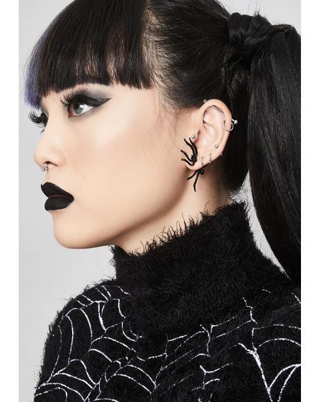 Nightcrawler Spider Earrings