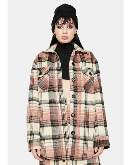 Pretty and Plaid Oversized Flannel