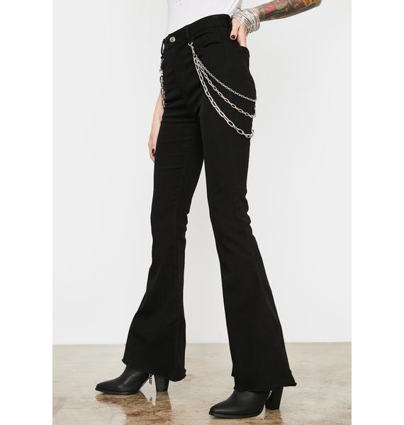 Current Mood Dead End Justice Flared Jeans