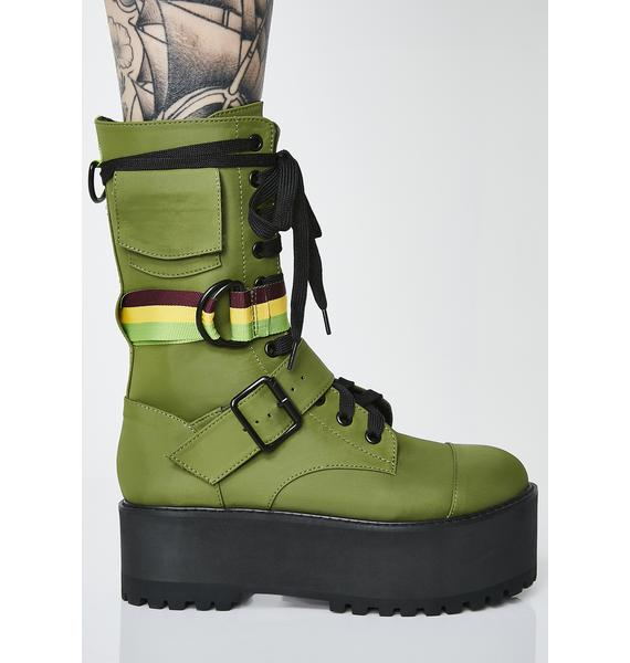 Poster Grl Stay Fly Stacked Boots