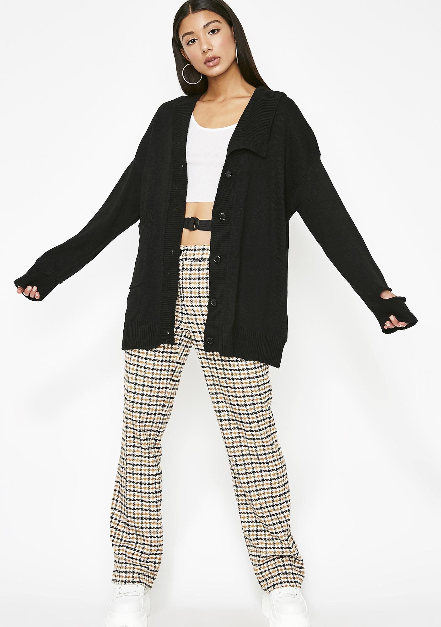 Onyx Prim N' Unproper Knit Cardigan