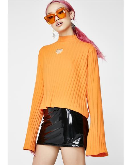 Orange Heart All Out Top