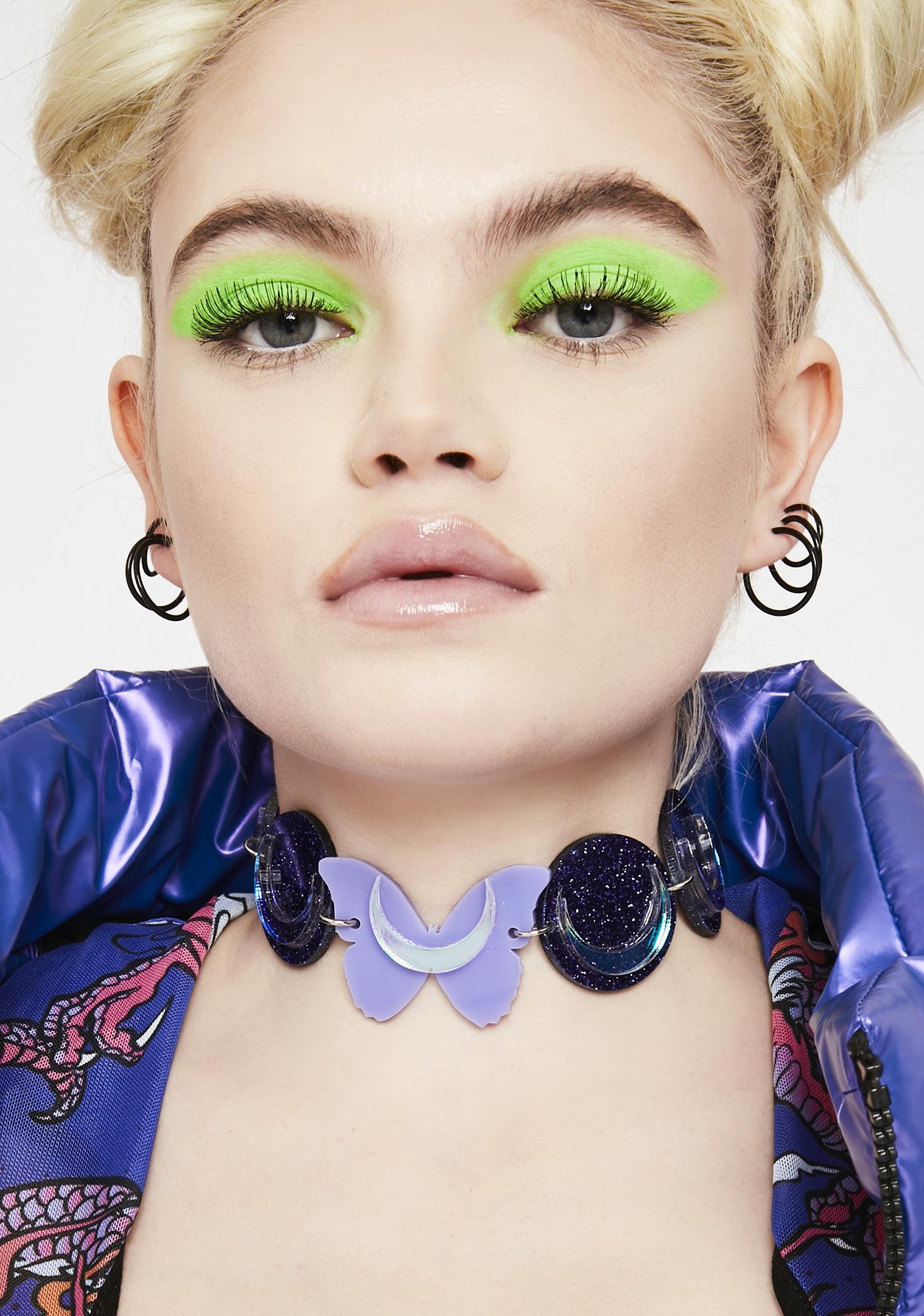 Marina Fini Butterfly Eclipse Glitter Choker