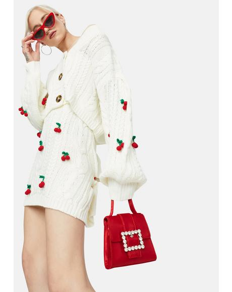 Pure Cherry Sweet Tales Mini Sweater Skirt