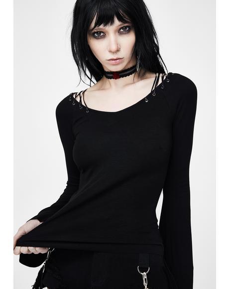 Knit Collar Long Sleeve