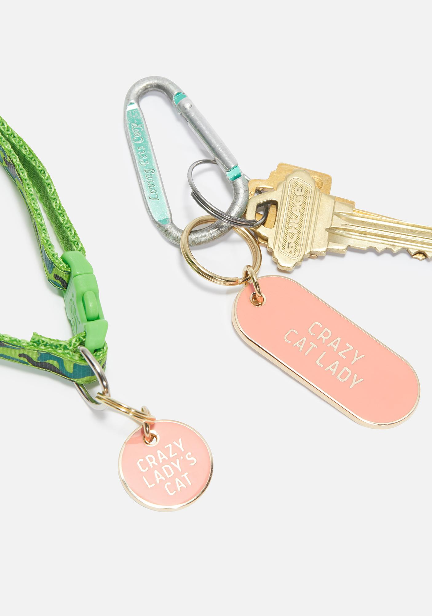Crazy Cat Lady Tag & Key Chain
