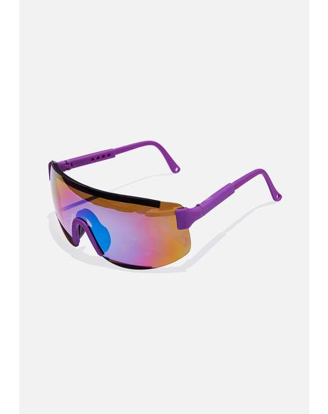 Purple Beach Sunglasses