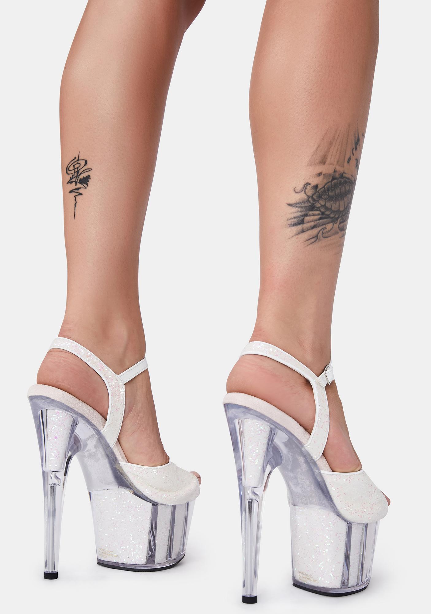Pleaser Flashy Fantasy UV Reactive Platform Heels