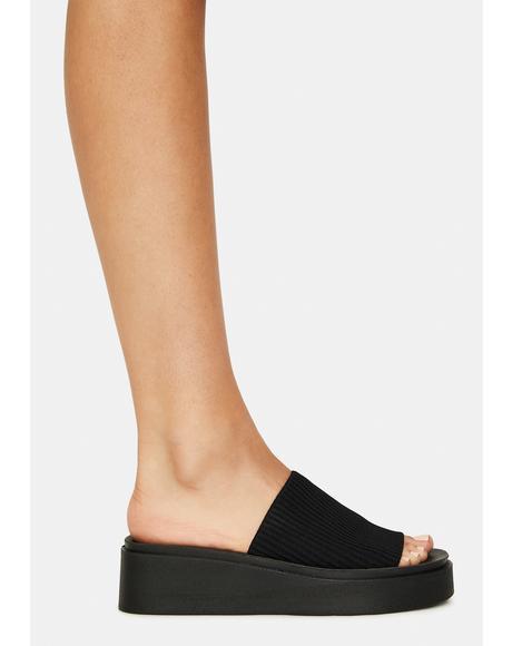 Balanced Platform Slide Sandals